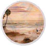 Beachcombers Round Beach Towel
