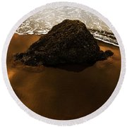 Beaches Of Gold Round Beach Towel