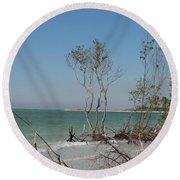 Fort De Soto Beachview Round Beach Towel