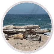 Beachy Round Beach Towel