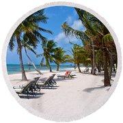 Beachy Belize Round Beach Towel