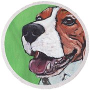 Beagle Timo Round Beach Towel
