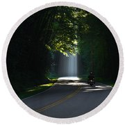 Beam Me Up The Great Smoky Mountains Round Beach Towel
