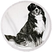 Beaming Berner Round Beach Towel