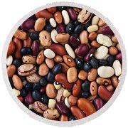 Beans Round Beach Towel