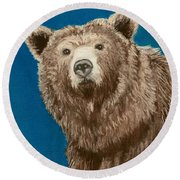 Bear Round Beach Towel