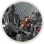 Bear And His Mentors Walt Disney World 04 Round Beach Towel
