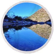 Bear Canyon Pool Round Beach Towel