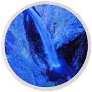 Bear Creek Falls Clolorado Round Beach Towel