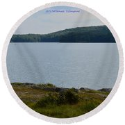 Bear Mountain Round Beach Towel