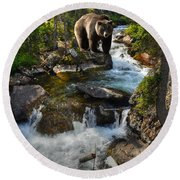 Bear Necessity Round Beach Towel