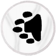 Bear Track Round Beach Towel