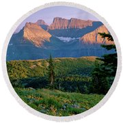 Bear Valley Glacier National Park Round Beach Towel