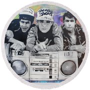 Beastie Boys Round Beach Towel