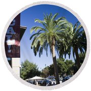 Beat Cal Sign Stanford University Round Beach Towel
