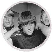 Beatle Haircuts Get Reprieve Round Beach Towel