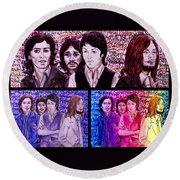 Rainbow Beatles Design Trio Round Beach Towel