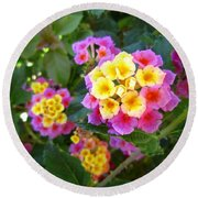 Beaucoup Of Blooms Round Beach Towel