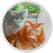 Beauregard And Stonewall Round Beach Towel