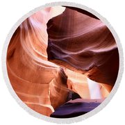 Beautiful Antelope Canyon Colors Round Beach Towel