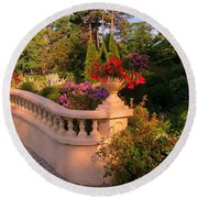 Beautiful Balustrade Fence In Halifax Public Gardens Round Beach Towel