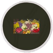 Beautiful Blooms Round Beach Towel