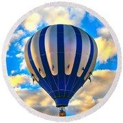 Beautiful Blue Hot Air Balloon Round Beach Towel