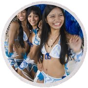 Beautiful Women Of Brazil 2 Round Beach Towel