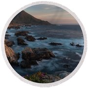 Beautiful California Coast In Spring Round Beach Towel