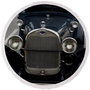 Beautiful Classic Car Front View Round Beach Towel