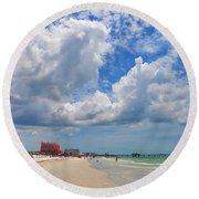 Beautiful Clearwater Beach Round Beach Towel