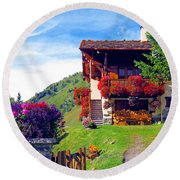 Beautiful Cottage Round Beach Towel