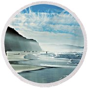This Is The Day That The Lord Has Made... Round Beach Towel