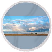 Beautiful Day By The Bay Round Beach Towel