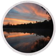 Beautiful Day's Promise Round Beach Towel