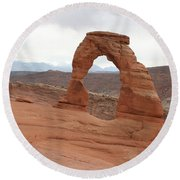 Beautiful Delicate Arch Round Beach Towel