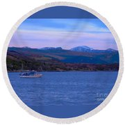 Beautiful Evening At Ullapool Round Beach Towel