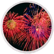 Beautiful Fireworks 14 Round Beach Towel