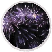 Beautiful Fireworks 7 Round Beach Towel