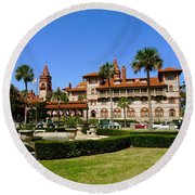 Beautiful Flagler College Round Beach Towel