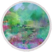Beautiful Giverny Round Beach Towel