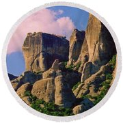Beautiful Greece Landscape Round Beach Towel