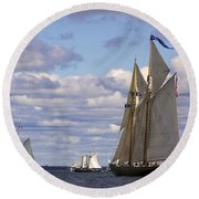 Beautiful History Round Beach Towel