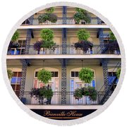 Beautiful Hotel In New Orleans Round Beach Towel