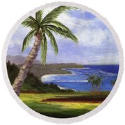 Beautiful Kauai Round Beach Towel