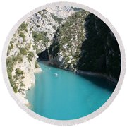 Beautiful Lac De Ste. Croix Round Beach Towel