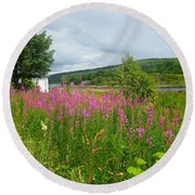 Beautiful Lochaline Landscape Round Beach Towel