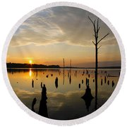 Beautiful Morning Round Beach Towel