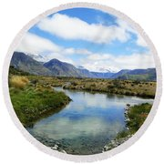 Beautiful New Zealand Round Beach Towel