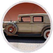 Beautiful Old Time Travelling Car Round Beach Towel